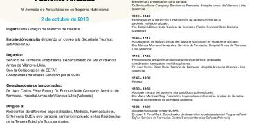 Programa IV Jornada Soporte Nutricional